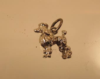 Poodle Charm / Pendant  Full Figure  @ A Village Coin Bullion 12/5/6 B