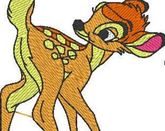 Bambi and Butterfly Embroidered Iron On Patch