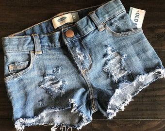 Distressed Jean Shorts Toddler