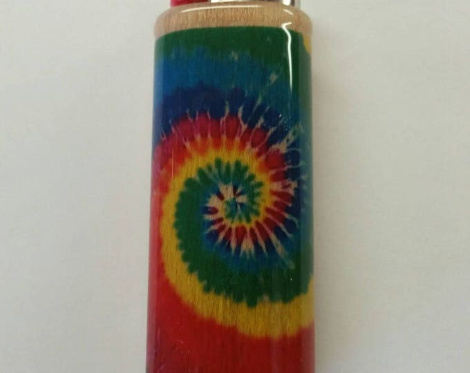 Tie Dye BIC Lighter Case Holder Sleeve Cover
