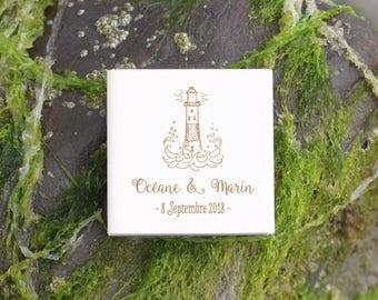 Tampon mariage vintage - Phare -