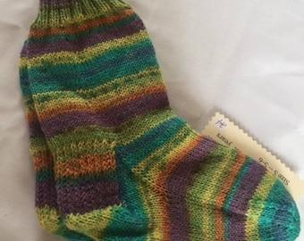 Handknit Merino Washable Wool Socks (6)