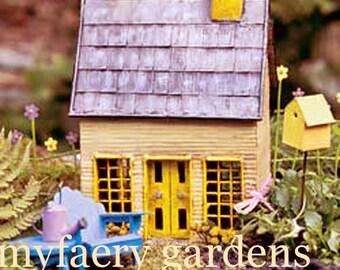 Miniature Dollhouse FAIRY GARDEN ~ Fairy Cottage Blue Fairy House Gardening Accessory