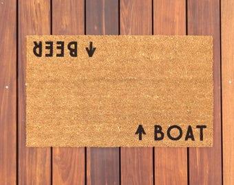 Boat / Beer™ Door Mat (doormat) - Lake House, Beach House, Boating