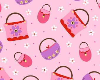 1/2 Yard Girly Girl by Dana Brooks for Henry Glass Pink Handbags