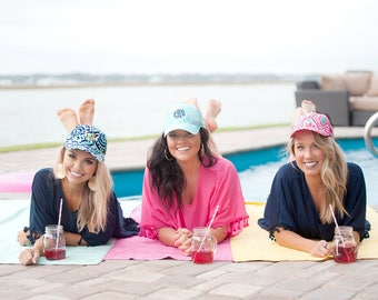 2018 Spring Collection - Lily Inspired Caps - Personalized Monogram Embroidery