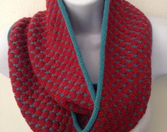 Infinity Scarf, Alpaca Bright Red, 100%