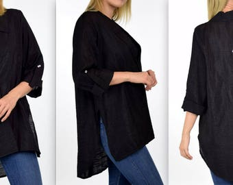 New Designer,Romantic and Trendy, Must have Plus Size Shirt Blouse in Soft All Year Fabric, M to 3XL