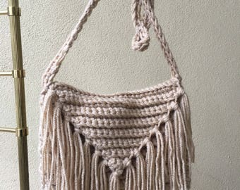 Tan fringe bag!