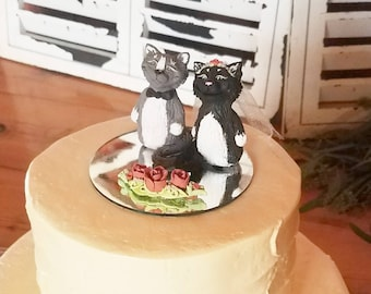 Wedding Cake Toppers - Custom Sculpted Animals