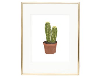 Cactus Art Print by Alexa Zurcher