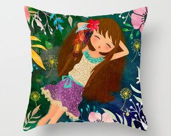 Girl's Room Decorative Pillow Teen Pillow Girl Room Pillow Nursery Pillow Baby Room Pillow Gift For Girl Baby Shower Gift Modern Pillow