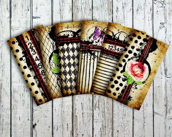 Traveler's Notebook Inserts - Designer Art Cover -  Midori Refill - Artist Notebook - Embrace Beautiful Chaos