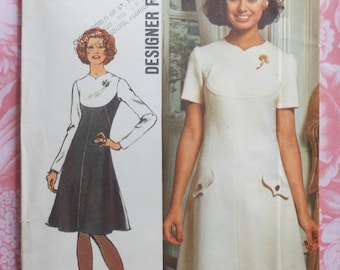 Vintage Dress Sewing Pattern UNCUT Simplicity 5344 Size 10