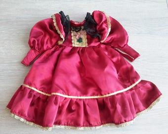 height 26 cm Satin Doll dress