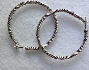 David Yurman large hoop earrings
