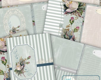 Rose Garden Journal Kit, Journal Pages, Paper Craft Supplies, Printable stationery, Card Making, Scrapbooking Elements - 'Rose Garden'