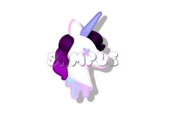 Unicorn Head Glossy Sticker