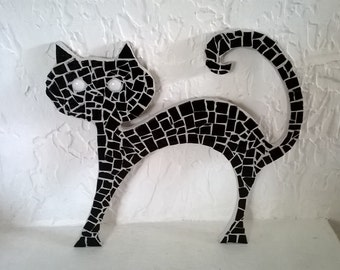 Mosaic, dark mosaic's cat black cat
