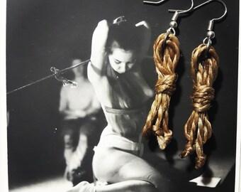Bondage Rope Earrings - Bondage Earrings - BDSM Earrings - Kink Earrings
