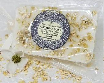 Goat's Milk Oatmeal Soap - No Scent Added - Great for Sensitive Skin - Nourishing and Gently Exfoliating