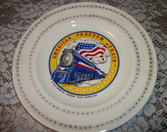 AMERICAN FREEDOM TRAIN Plate 1975, By the American Freedom Train Foundation