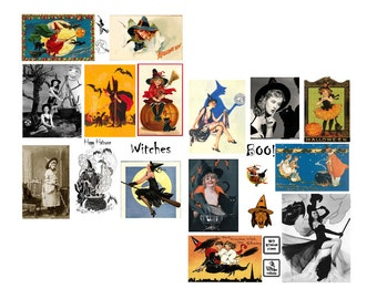 Witches Digital Collage Sheet