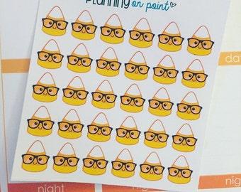 Nerdy Candy Corn Halloween Fall Planner Stickers!