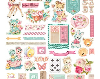 Prima Heaven Sent 2 Ephemera Cardstock Die Cuts & Stickers #595401