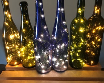 Lighted Wine Bottle Lamps