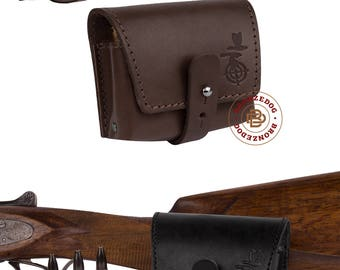 Hunting Leather Cartridge Holder, Wallet Cartridge Holder, Cartridge Wallet, Shell Pouch Rifle cal 7.62 Winchester Norma Magnum