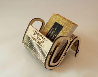 Laser Cut Engraved Business Card Holder Personalized Your Logo Custom Design