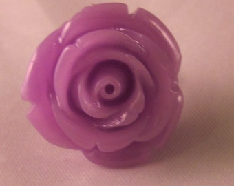 Rose Lapel Pin - Purple - Men's Accessories- Everyday/Weddings/Proms