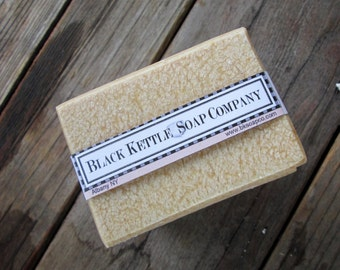 Palm Free ALMOND MILK & HONEY Handcrafted Artisan Soap... Black Kettle