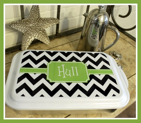 Casserole Dish Cake Pan Personalized Dishes Housewarming Wedding Gift Home Living Dining Entertaining Kitchen Bakeware Monogrammed Unique