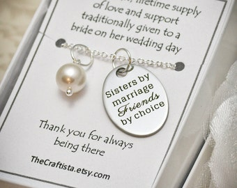 Sister of the Groom Necklace -- SIL2 -- Sister-in-law Necklace, Maid of Honor Necklace, Sister of the Groom Gift, Bridesmaid Jewelry