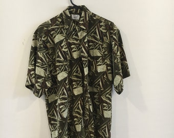 Jungle fun party shirt // 90s buttonup // boho guy style