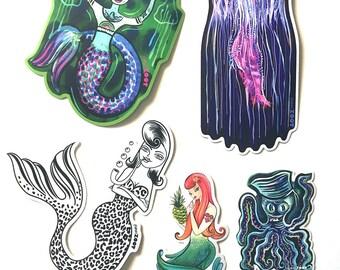seaside sticker assortment
