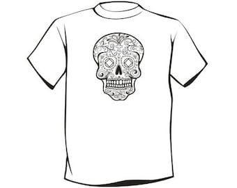 NA Sugar Skull T-Shirt - Unique 12 Step Recovery Clothing, Wearables, and Swag! ...from your friends at WoodenUrecover.com