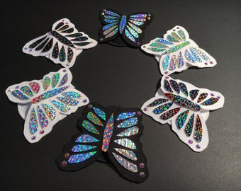 Holographic Butterfly Pasties | Nipple Pasties | Nipple Covers | Rave | Burlesque | Iridescent | Burning Man
