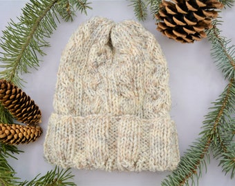 Cable Knit Hat / Winter Hat / Knit Hat / Knitted Hat