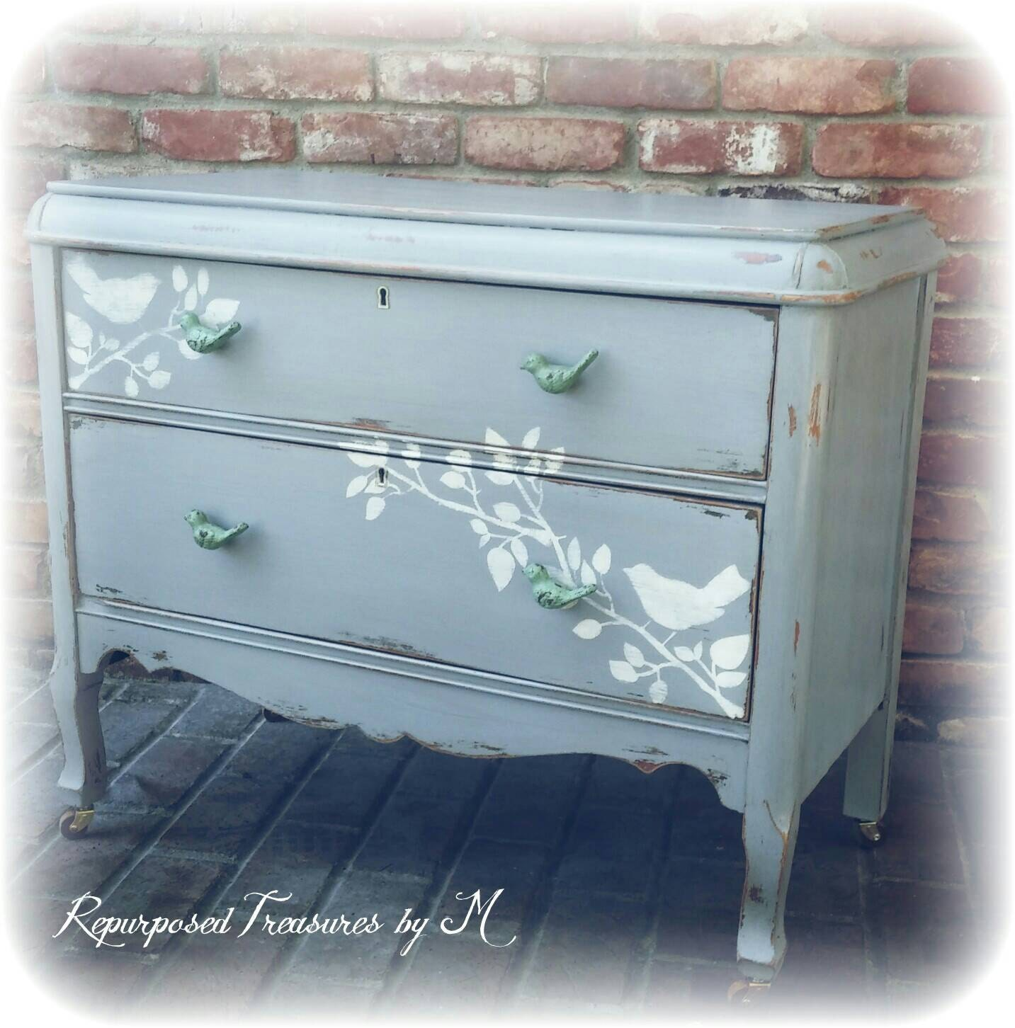 SOLD Distressed Antique Dresser Shabby Chic