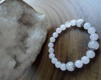 Rose Quartz Bracelet  / Fertility Rose Quartz Bracelet / Rose Quartz Authentic Stone Bracelet / Fertility Bracelet / Natural Stone Bracelet