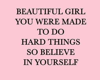 Believe In Yourself Inspirational Quote Art Print Wall Decor Image - Unframed Poster