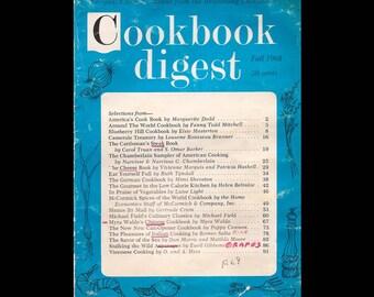 Cookbook Digest Vol. 1 No. 3 - Vintage Recipe Magazine c. Fall 1968