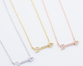 Arrow gold plated necklace pretty, lovely, cute, adorable, jewelry