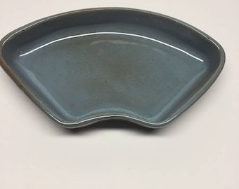 Snack tray Redware signed