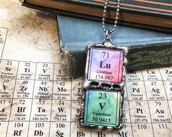Medieval periodic table of elements soldered glass pendants periodic table pendant urtaz Image collections