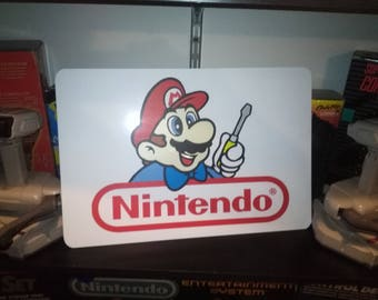 "Nintendo Repair Display, Aluminum Sign, 12""x18"""
