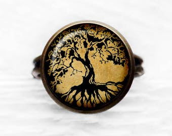 Tree of Life Nature Adjustable Ring